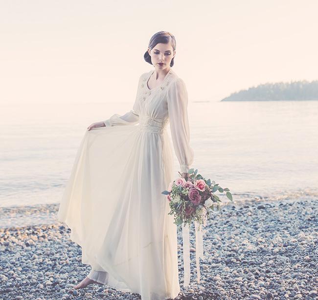 Effortlessly Vintage, Sunset Bridal Editorial {Jennifer