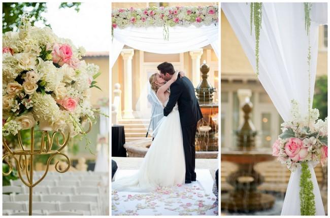 Blush and Gold Romantic, Glitzy Wedding {Andi Diamond Photography}