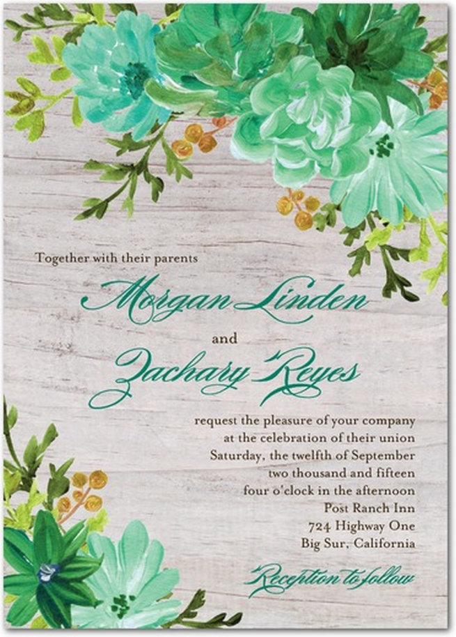 25 of the most amazing Botanical Green Wedding Invitations