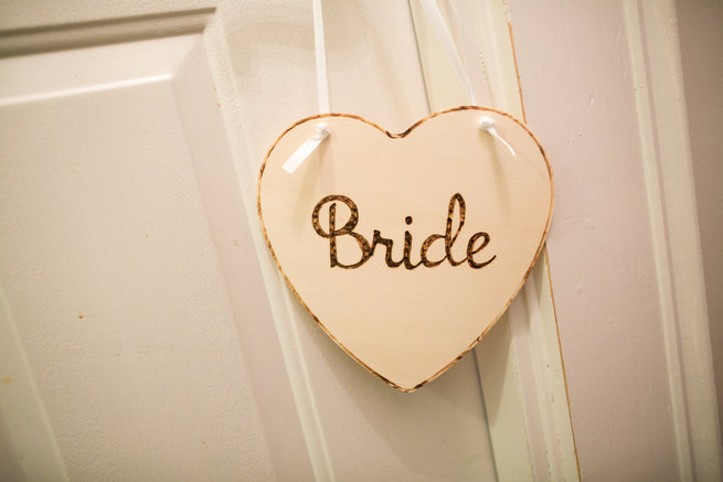 Wooden heart shaped bride sign -  - Beautiful Burgundy and Tan Wedding - Molinski Photo