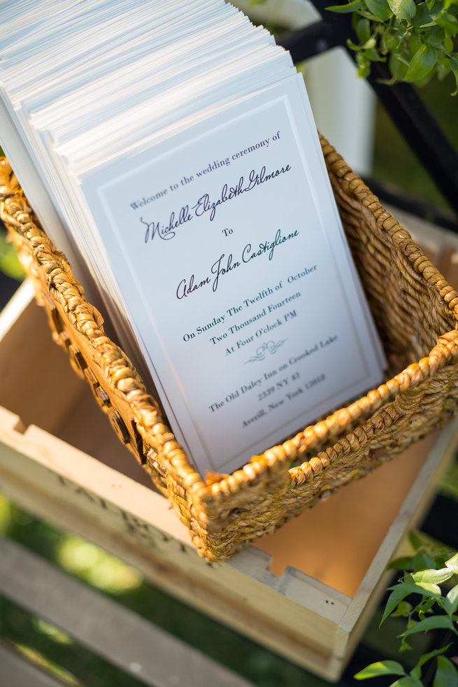 Wedding programs  - Beautiful Burgundy and Tan Wedding - Molinski Photo