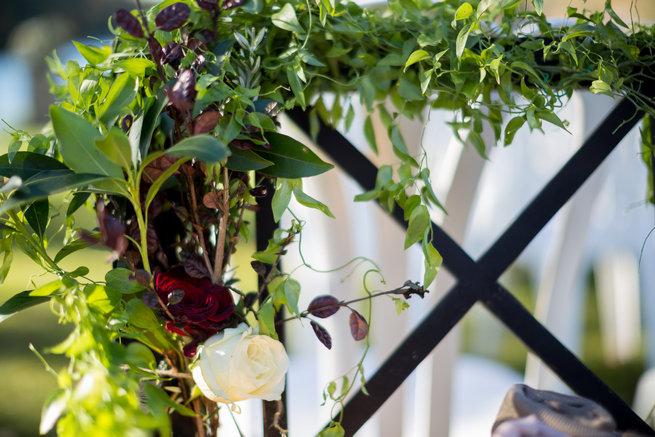 Floral arch  - Beautiful Burgundy and Tan Wedding - Molinski Photo