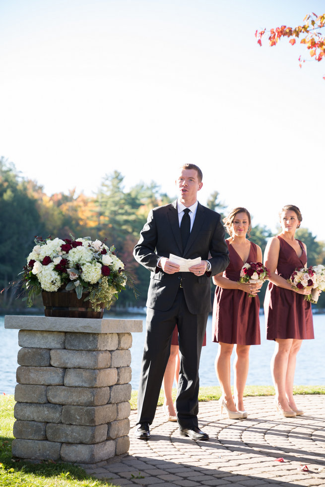 Beautiful Burgundy and Tan Wedding - Molinski Photo