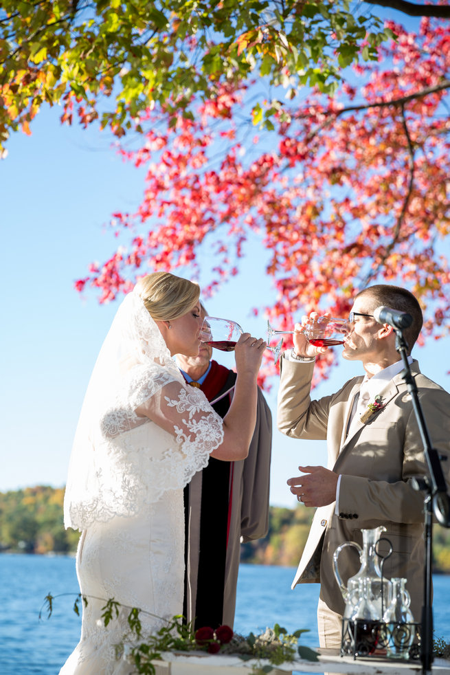 Wine ceremony -  Beautiful Burgundy and Tan Wedding - Molinski Photo