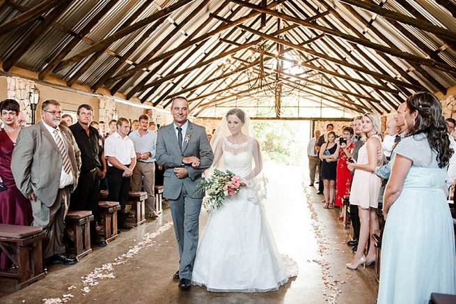 Coral and Green South African Wedding // D'amor Photography