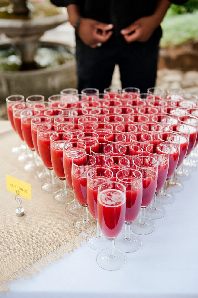 Refreshments / Coral and Green South African Wedding // D'amor Photography