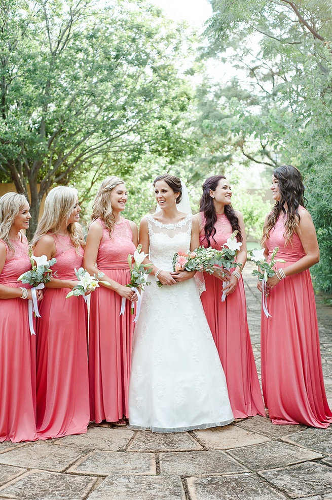Coral And Green South African Wedding Damor Photography