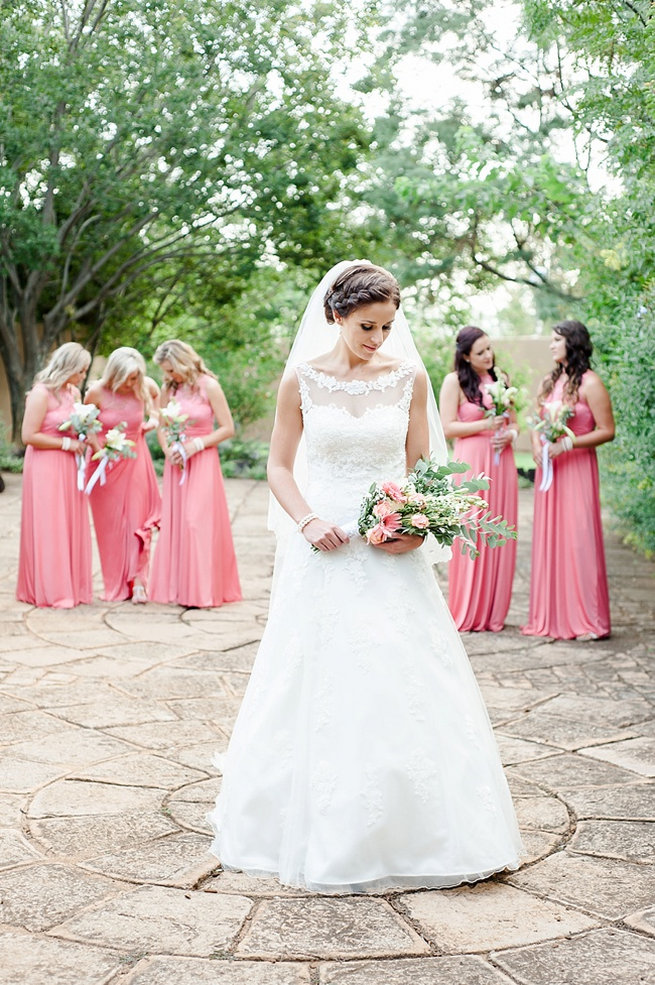 Bridesmaids . Coral and Green South African Wedding // D'amor Photography