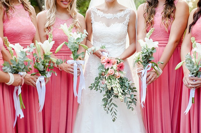 Bouquets. Coral and Green South African Wedding // D'amor Photography