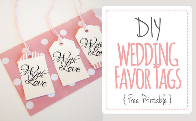"Wedding Favor Tags: ""With Love"" Luggage Tag Printable"