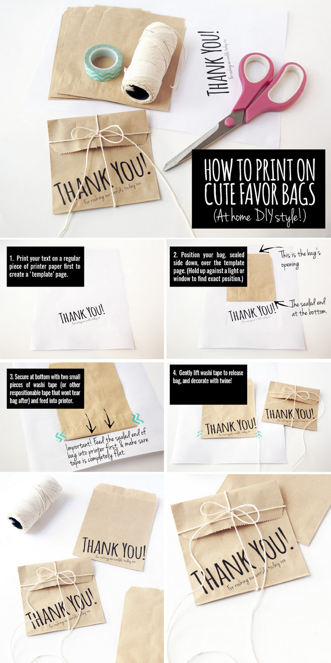 Cute DIY Favor Bags: How To Print At Home