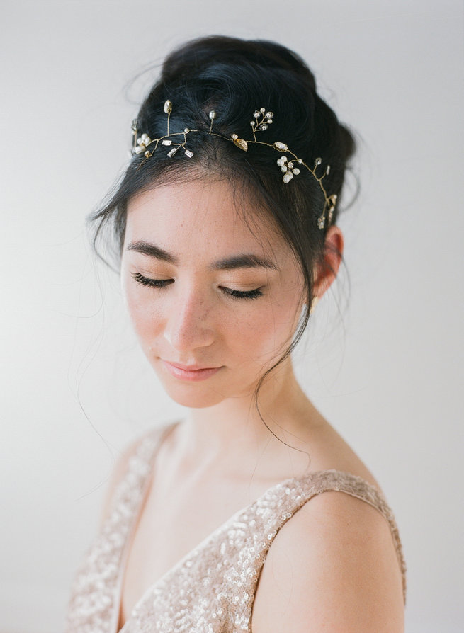 romantic vintage inspired bridal headpiece