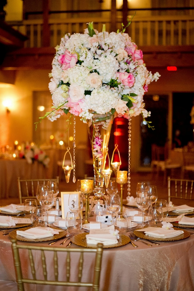 Blush and Gold Romantic, Glitzy Wedding - Andi Diamond Photography