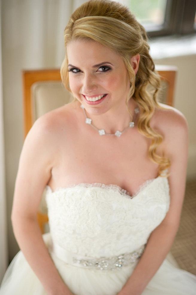 Long wedding hair / Blush and Gold Romantic, Glitzy Wedding - Andi Diamond Photography