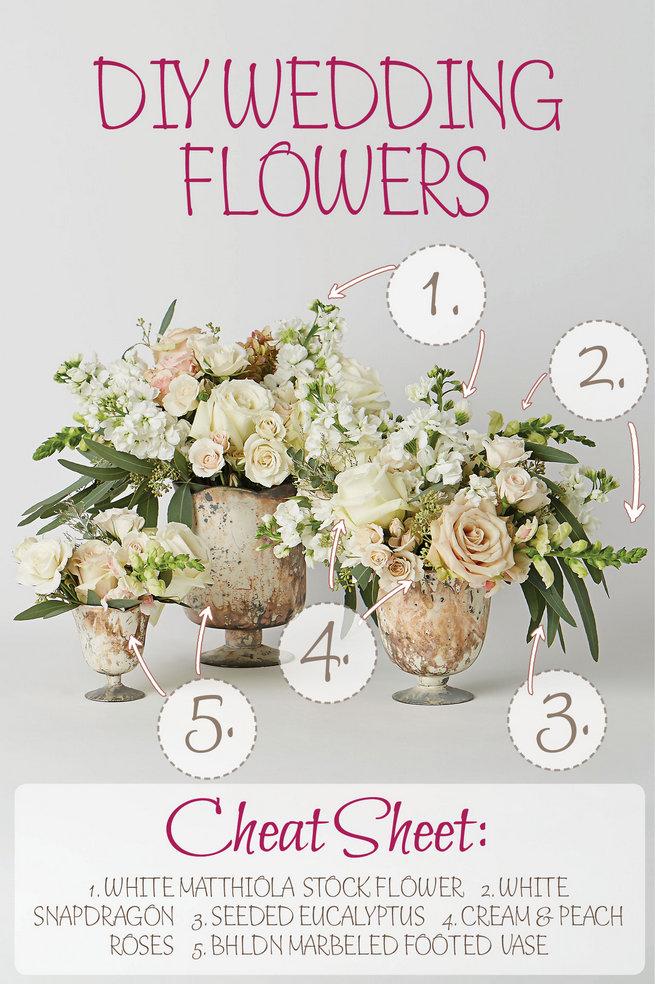White and green diy flower centerpiece recipe