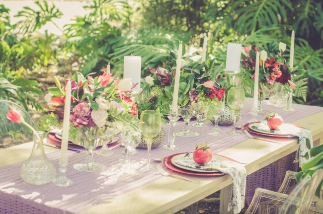 Garden Wedding Ideas in Marsala