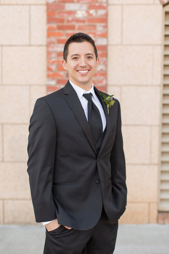 Groom's attire. Modern Urban Wedding at Old Cigar Warehouse / Ryan and Alyssa Photography