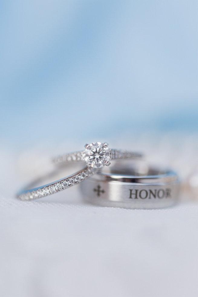 Engraved Wedding Ring. Modern Urban Wedding at Old Cigar Warehouse / Ryan and Alyssa Photography