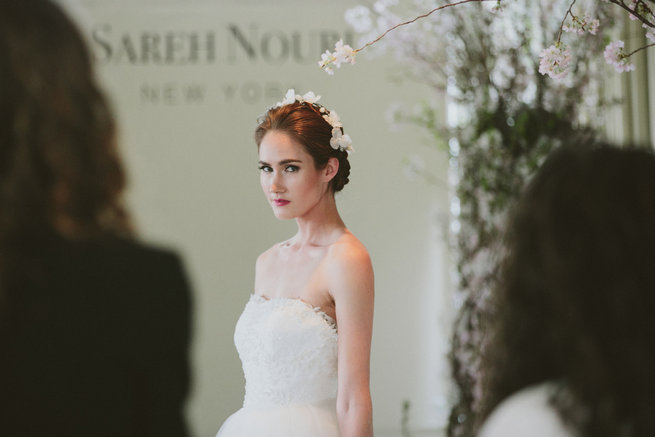 Sareh Nouri Spring 2016 Bridal market and exclusive designer interview - Syed Photography