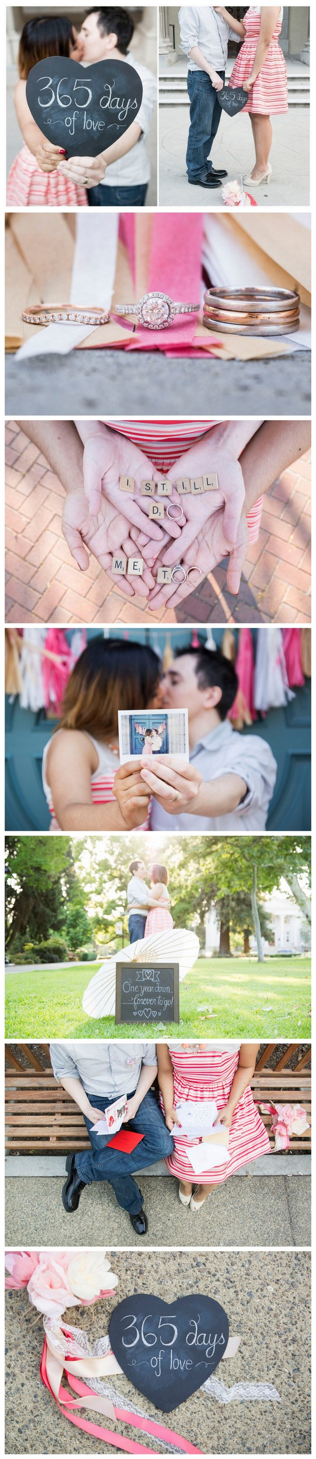 Super Sweet Wedding Anniversary Photo Ideas: https://confettidaydreams.com/cute-first-wedding-anniversary-photo-ideas/