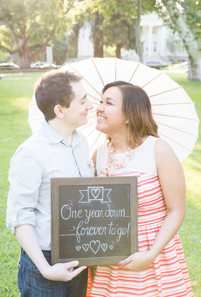 One Year Down, Forever To Go! Wedding Anniversary Photo Ideas by Peterson Photography