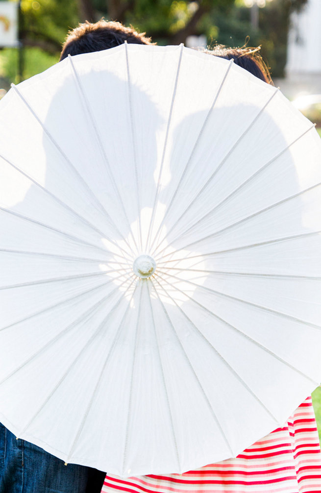 Paper parasol love silhouette. Wedding Anniversary Photo Ideas by Peterson Photography