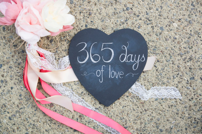 365 days of love chalkboard heart. Wedding Anniversary Photo Ideas by Peterson Photography
