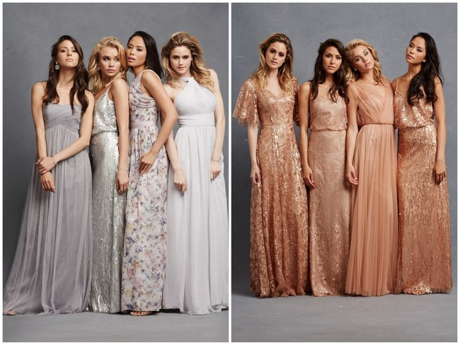 Chic, Romantic Bridesmaid Dresses to Mix and Match