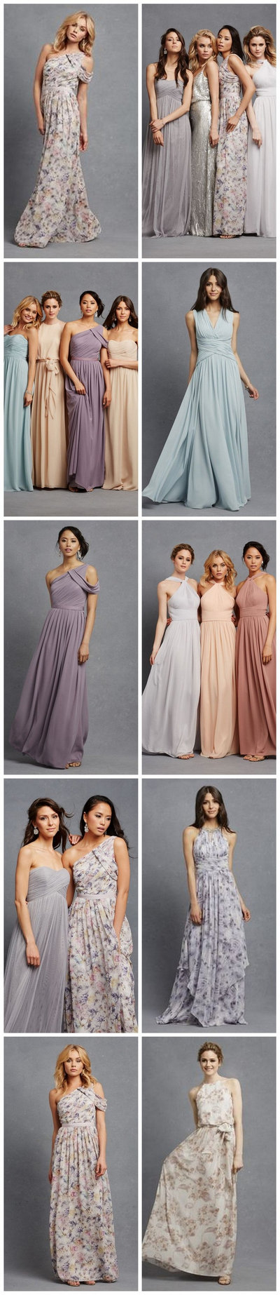Romantic Floral Print and Boho bridesmaid dresses in so many gorgeous silhouettes and fabrics!