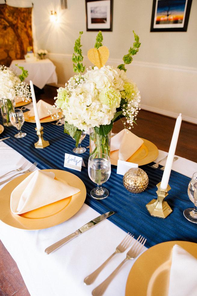 Simple Gold Navy Garden Wedding 27