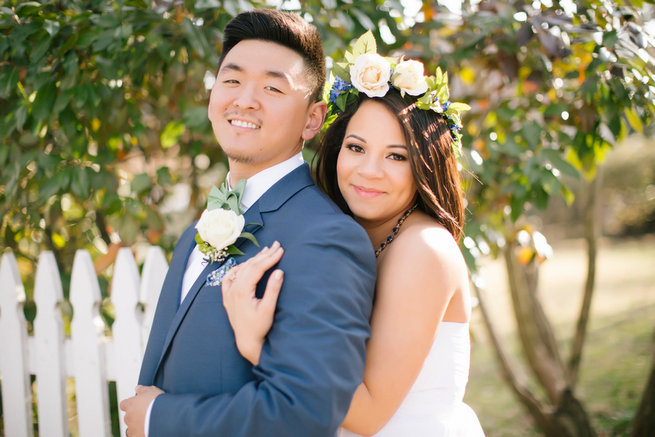 Simple Gold Navy Garden Wedding - Brandilynn Aines Photography