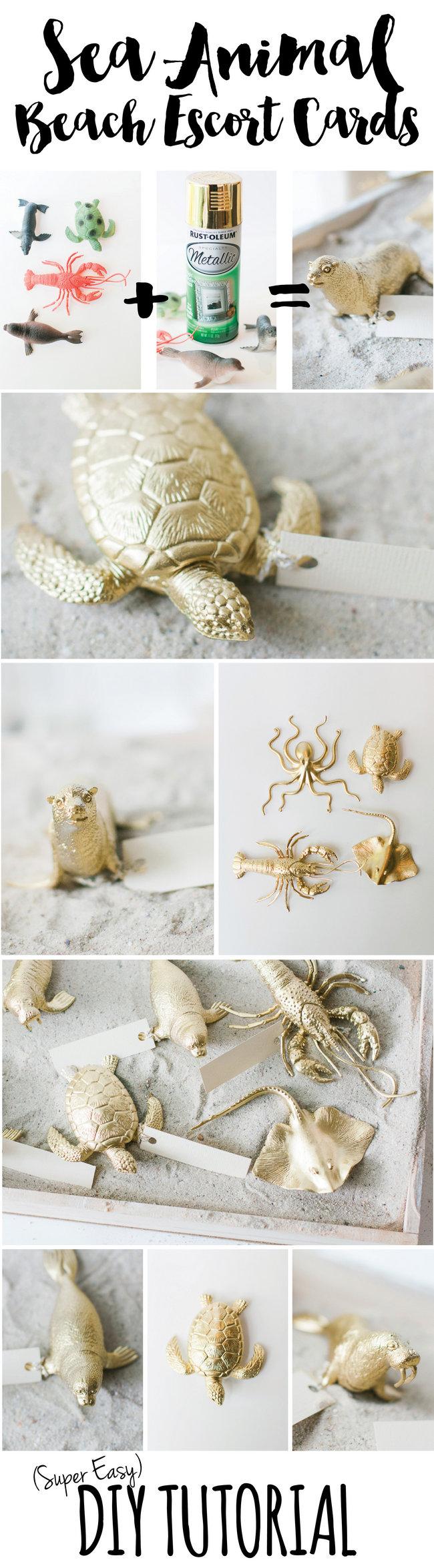DIY Beach Wedding Escort Cards