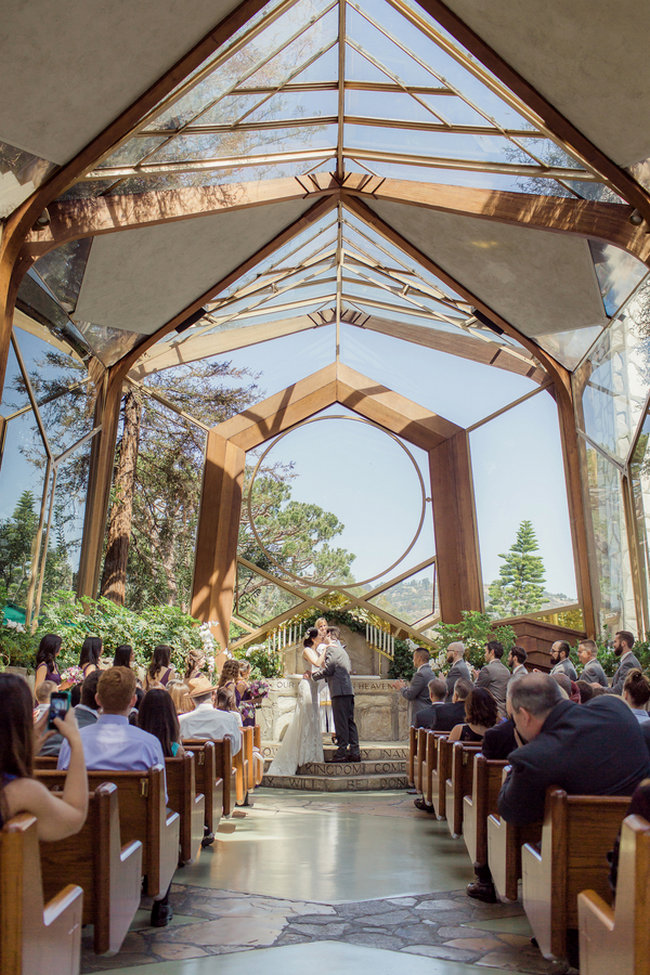 "Romantic Wedding in at Wayfarers ""Tree Chapel"" set in a natural sancturary in the midst of a forest / Figlewicz Photography"