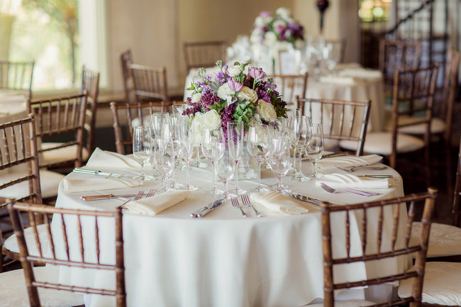 Romantic Purple, Ivory + Gray Wedding at La Venta Inn / Figlewicz Photography