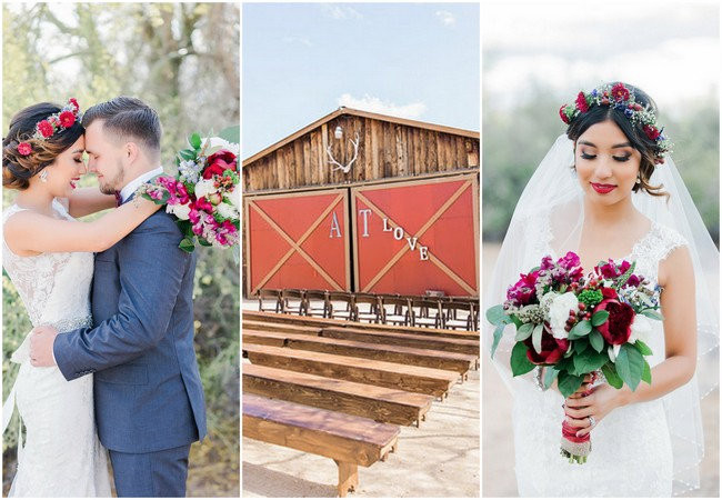 Bohemian Barn Wedding in the Desert - Jessica Q Photography