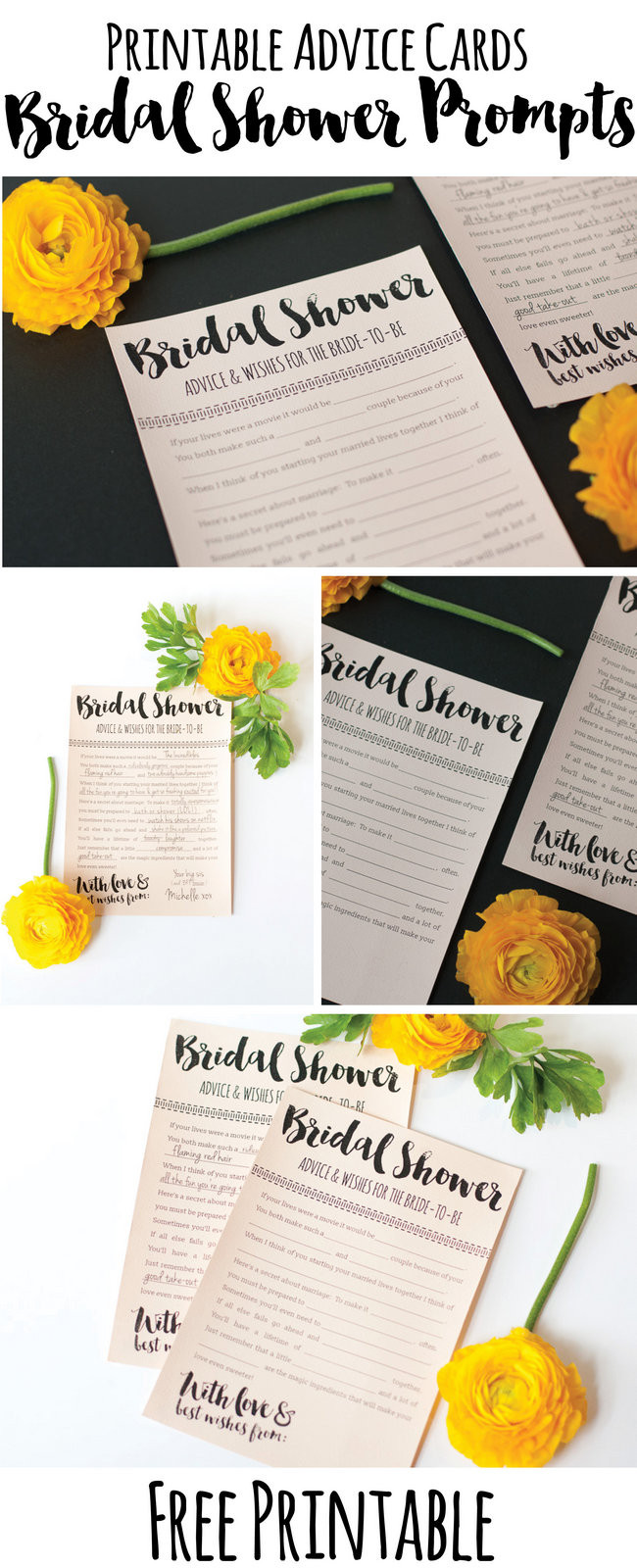 It's just a photo of Handy Free Printable Bridal Shower Advice Cards