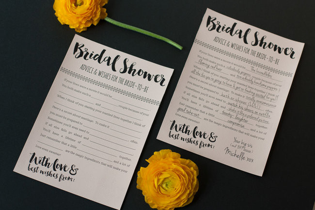 Fun Printable Bridal Shower Advice Cards - FREE Download ?