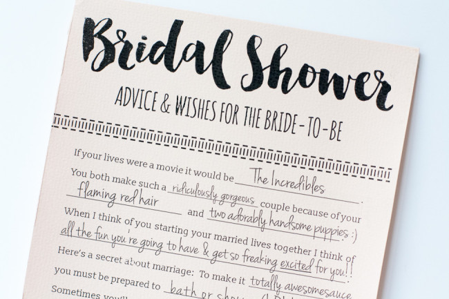 these printable bridal shower advice cards are so fun and its a free download