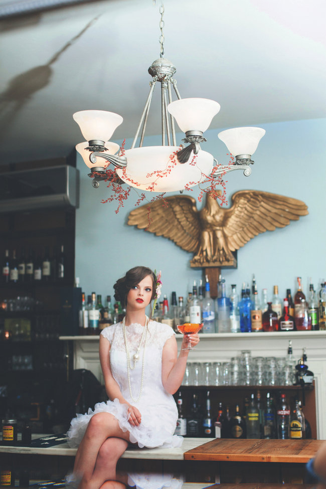 Speakeasy inspired wedding ideas // La Candella Wedding Photography