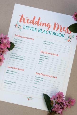 Awesome Wedding Dress Planning Timeline Download FREE Printable