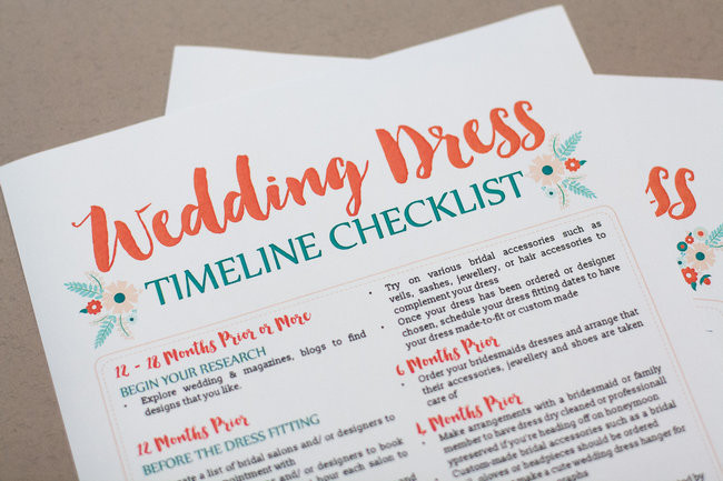 Awesome wedding dress planning timeline download free printable wedding dress planning timeline junglespirit Image collections
