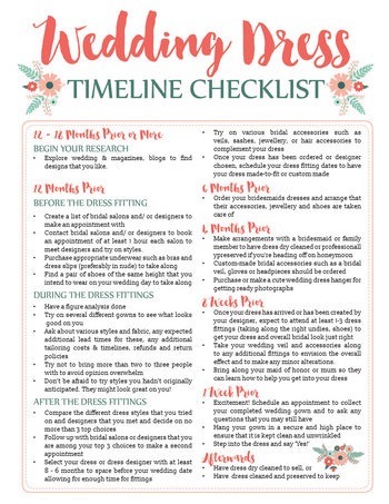 Printables Wedding Day Timeline Worksheet awesome wedding dress planning timeline download free printable this is a cute checklist and worksheet to add