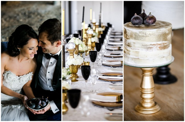 Classic Elegant Gold, Black & White Wedding {Nikki Meyer Photography}