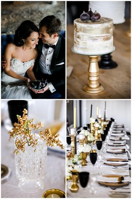 Clic Elegant Gold Black White Wedding