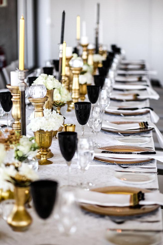 Classic Elegant Gold Black Amp White Wedding Nikki Meyer