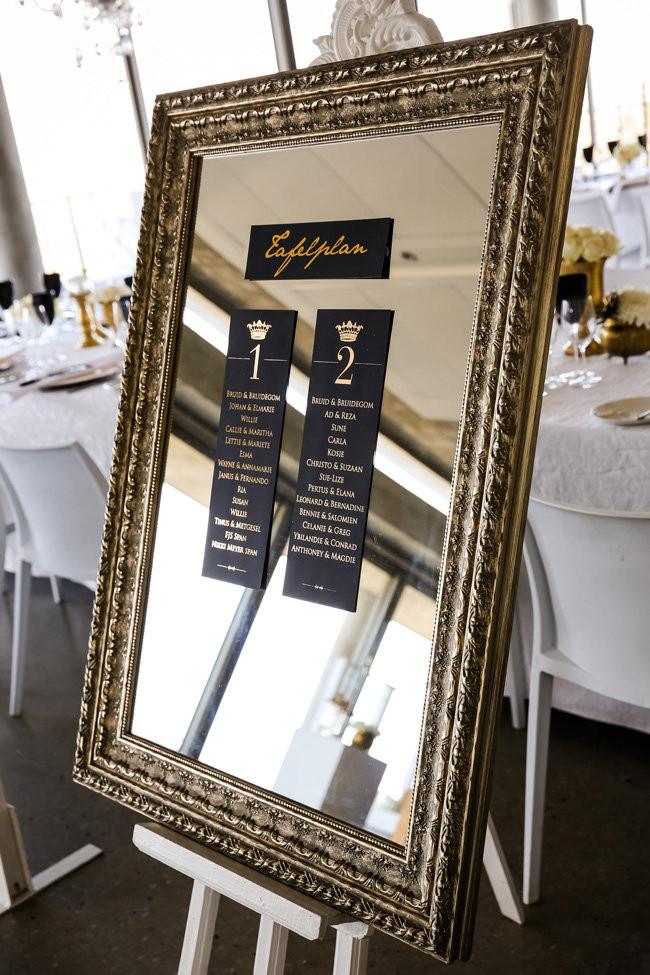 Classic Elegant Gold Black White Wedding (40)
