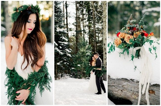Breathtaking Winter Bride Ideas {Ashley Rae Photography}
