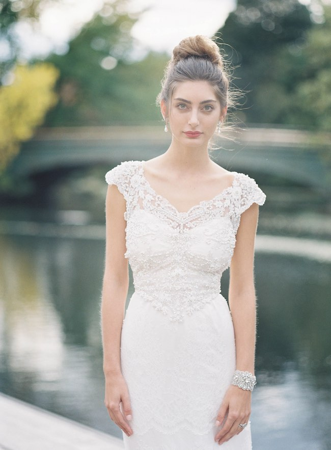 Chic Romantic Wedding Dress by Anna Campbell Gossamer Collection. Judy Pak Photography
