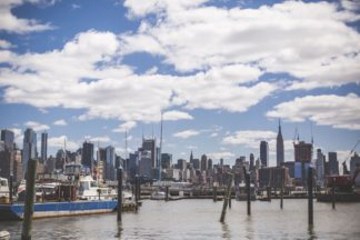 New York Harbor Yacht Cruise Wedding - Lauren Cowart Photography.