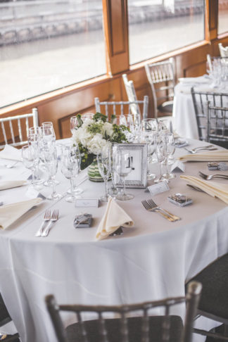 New York Harbor Yacht Cruise Wedding - Lauren Cowart Photography.